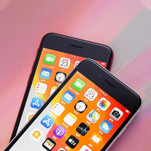 Original Apple iPhone SE 2020 IOS Cell Phones Unlocked 4.7'' A13 Bionic 3G RAM 64/128/256GB ROM Hexa Core 4G LTE Mobile Phone 4
