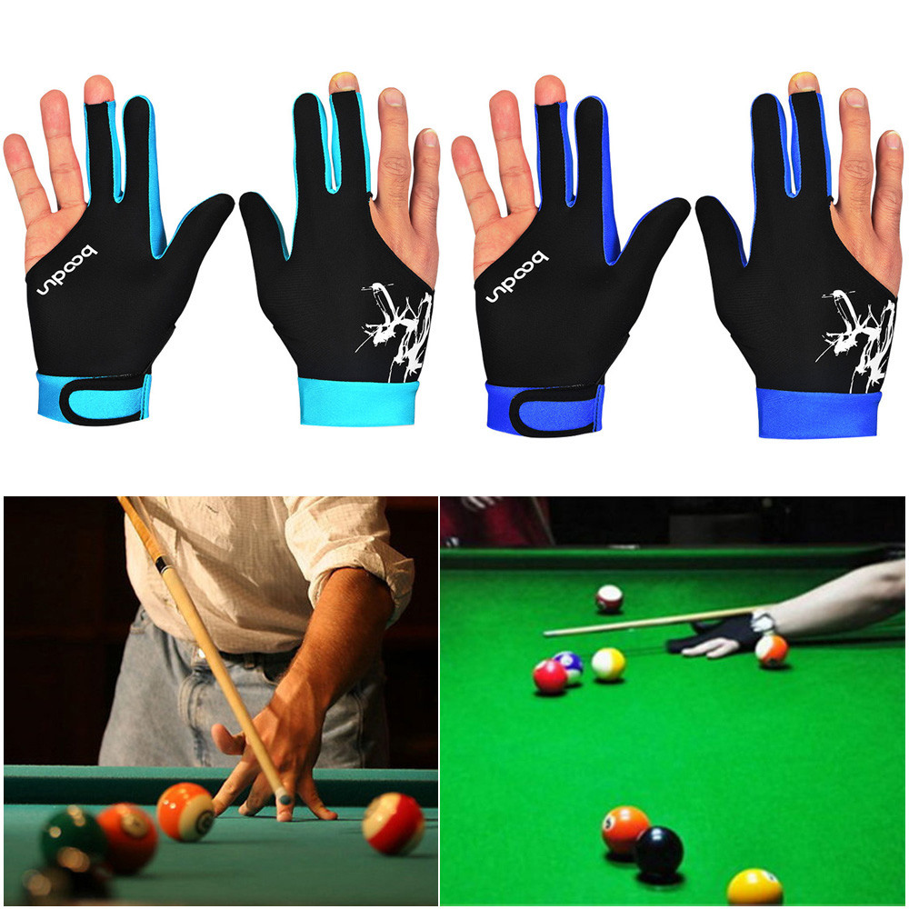 Billiard Gloves Quality Spandex New Trendy Gloves Snooker Three-finger Billiard Glove Pool Left And Right Hand Open Wholesale #E