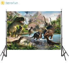 Sensfun 5x7ft dinossauro vinil festa fundo jurássico parque tema backdrops fotográficos para estúdio de fotos frete grátis