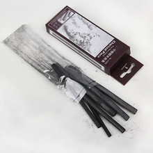 6pcs/set 11*0.7cm Sketching Charcoal Strips Cotton Willow Charcoal Bars For Artist Chinese Oil Painting Drawing Sketching Tools