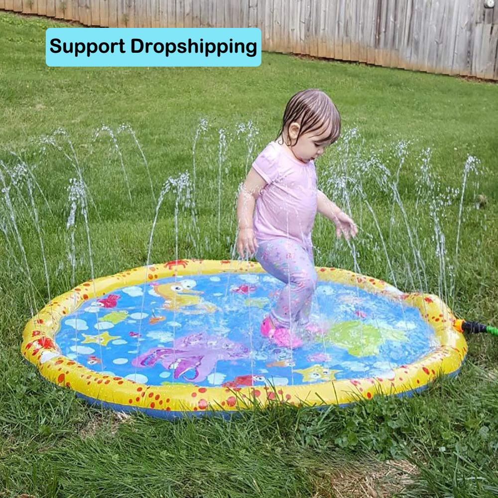 Inflatable PVC Spray Water Cushion Children Baby Kids Summer Outdoor Play Water Mat Games Beach Lawn Sprinkler Pool Water Toys