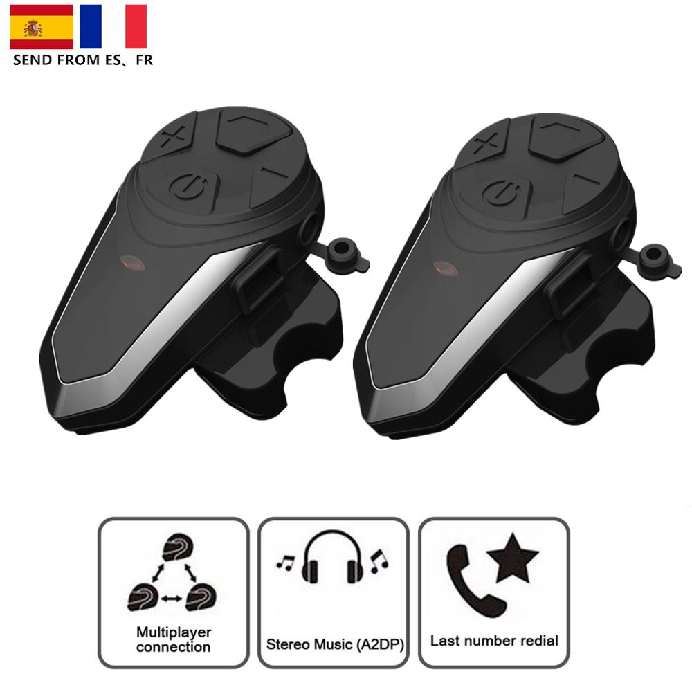 In stock!Pair BT-S3 1000M Motorcycle Bluetooth Helmet Headsets Intercom for Riders Wireless Intercomunicador Interphone MP3 FM