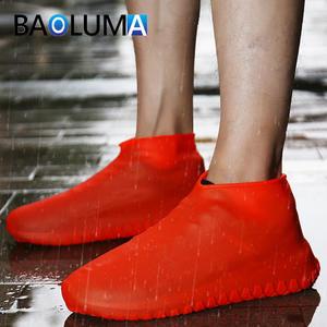 Shoe-Cover Overshoes Rain-Boots Rubber Waterproof Women Outdoor Portable Latex Unisex