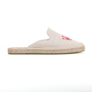 Image 5 - Tienda Soludos נעלי בד נעלי בית עבור שטוח נעלי 2019 קידום חדש הגעה קנבוס קיץ גומי פרדות שקופיות Zapatos De Mujer