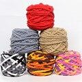 Jiwuo 100g/lot Colored Weaving Thread Yarn Soft Thick Cotton Woven Bag Carpet DIY Hand-Knitted Material Crochet Cloth Yarn