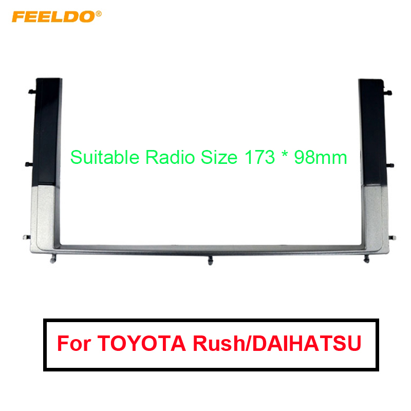 Car 2DIN Refitting Radio Stereo DVD Frame Fascia Dash Panel Installation Kits For TOYOTA Rush DAIHATSU Be-Go Terios 2006  AM1630