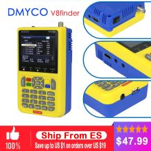 DMYCO V8 Finder DVB-S2 DVB-S FTA Digital Satellite SatFinder Meter HD Satellite Finder Tool TFT LCD Sat Finder lnb Signal Meter v8 finder satxtrem v8 finder satellite signal finder receiver dvb s s2 receptor 3 5 inch lcd mpeg 4 satellite finder