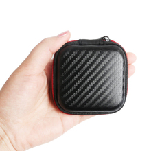 For KZ Zipper Earphone Storage Box Portable Headphone Case Earbuds Hard Case Carrying Pouch Earphone Organizor original kz earphone case fiber zipper headphones hard case storage carrying pouch bag sd card box portable earphone bag