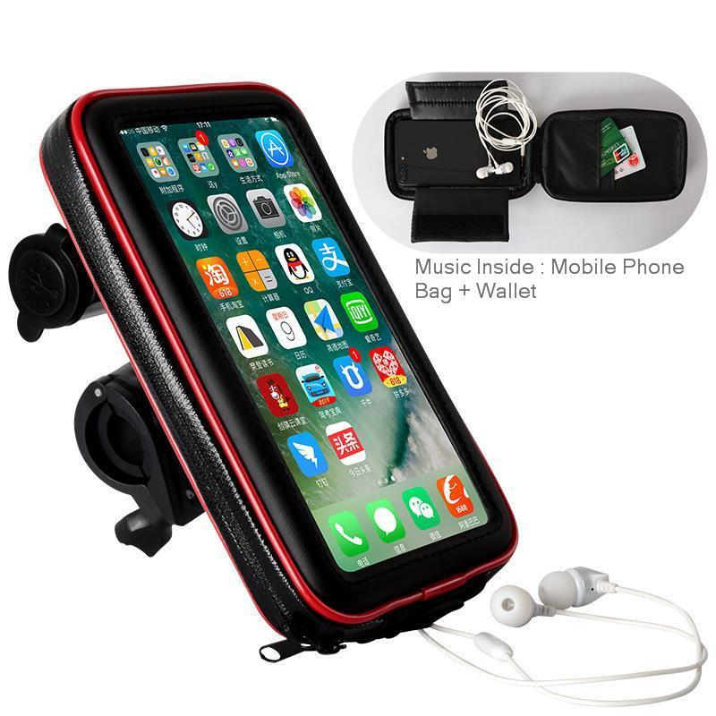 Motorcycle Phone Holder//Magnetic Motorcycle Tank Bag,with Touch Screen Waterproof Cell Phone Holder//Mount//Case for iPhone//Android up to 6.7 Inch small