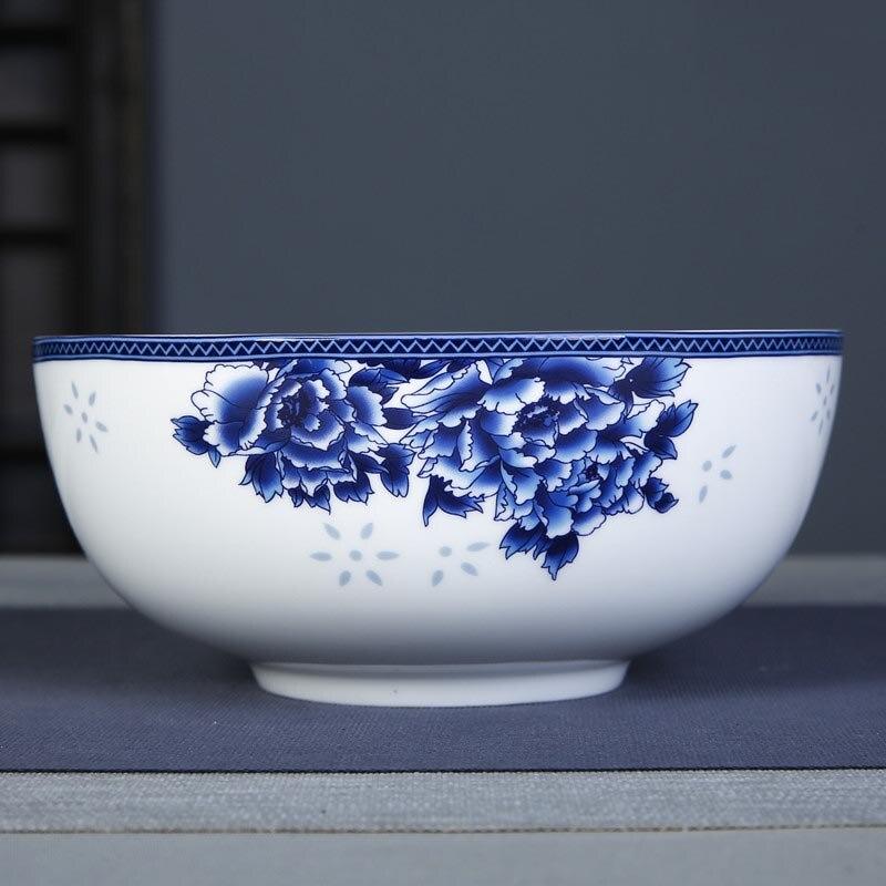 7 pouces grands bols a soupe ramen bol jingdezhen bleu et blanc porcelaine bol en ceramique four a micro ondes vaisselle chine vaisselle a la maison