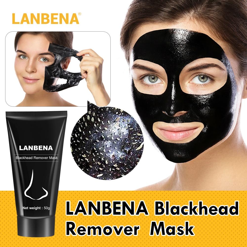 LANBENA Black Mask Blackhead Remover Nose Black Mask Face Care Mud Acne Treatment Peel Off Mask Pore Strip Skin Care Oil Control