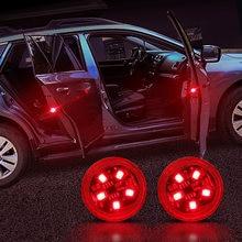 Abertura da porta do carro luzes de advertência etiqueta do carro para renault scenic passat fiat 500x mitsubishi outlander vesta lada acessórios