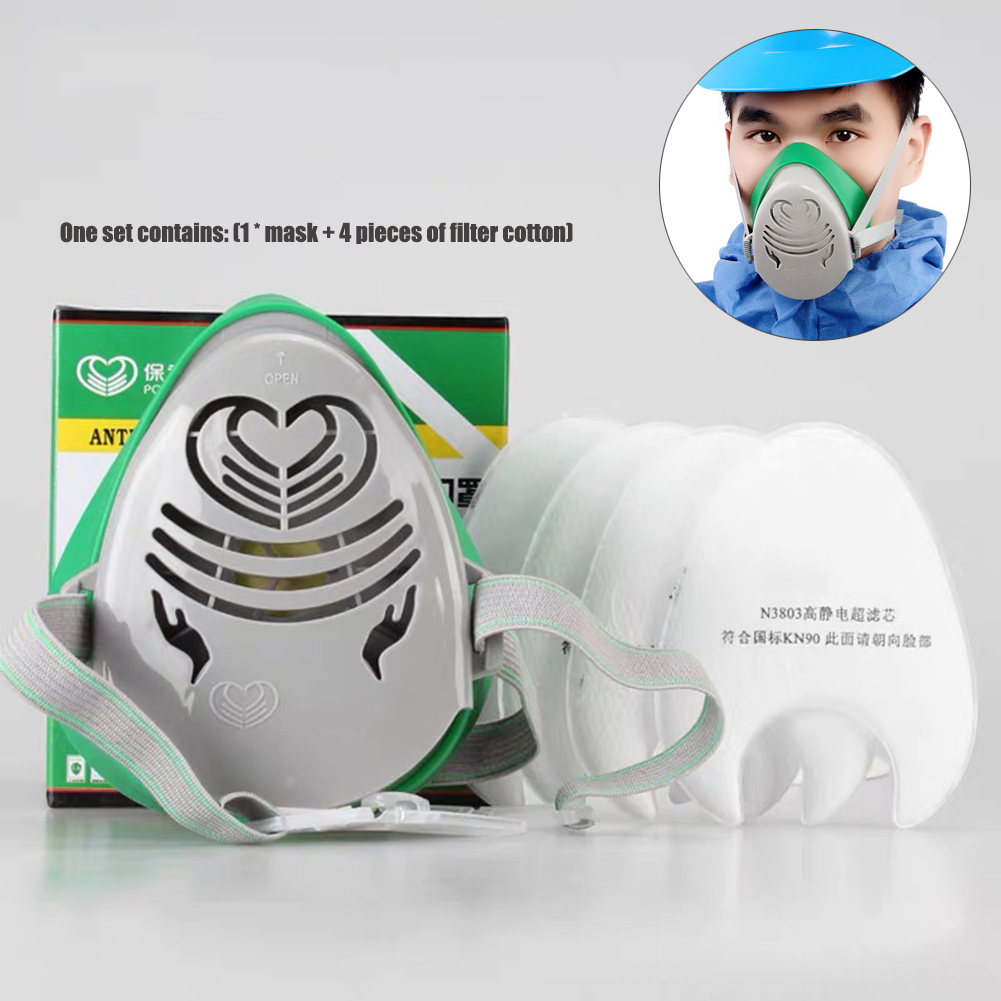 Pm2.5 Gas Protection Filter Respirator Dust Mask Anti-Dust  Pollen Haze Poison Gas Family  Professional Site Protection