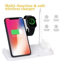 3 w 1 szybka ładowarka bezprzewodowa stacja dokująca szybkie ładowanie telefonu 11 11 Pro XR XS Max 8 na zegarek 2 3 4 5 na AirPods