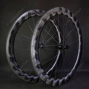 Image 5 - Pro luz x60mm rodas de carbono ciclismo ultra leve x 60 rodas ciclismo estrada jantes carbono novatec centro bloqueio para venda