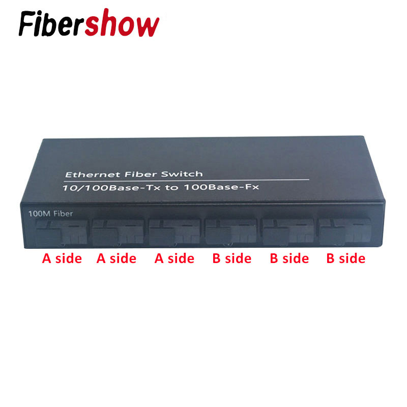 Image 2 - 10/100M Fast Ethernet Fiber Optical Media Converter Single Mode 