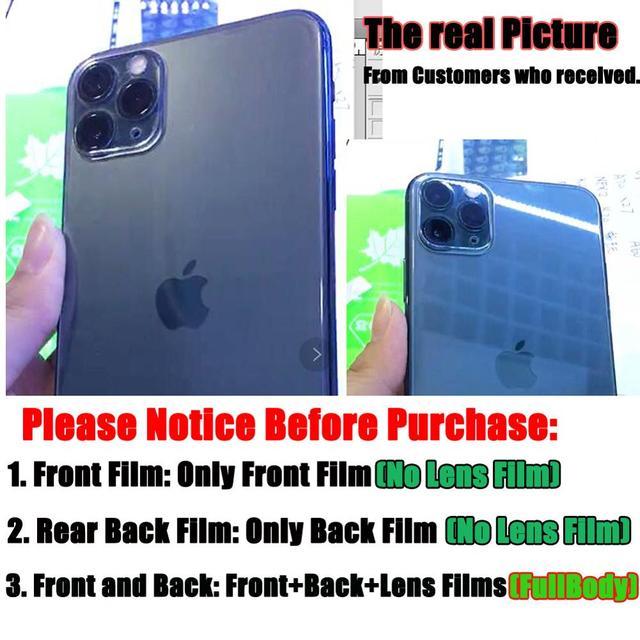 9D avant + arrière arrière + lentille Film de caméra pour iPhone 11 Pro Max 11 2019 verre trempé protecteur de Film d'écran complet pour iPhone 11 5