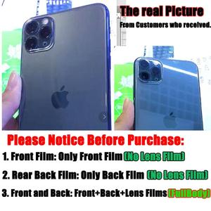 Image 5 - 9D Front+Rear Back+Lens Camera Film For iPhone 11 Pro Max 11 2019 Temper Glass Full Body Screen Film Protector for iPhone 11