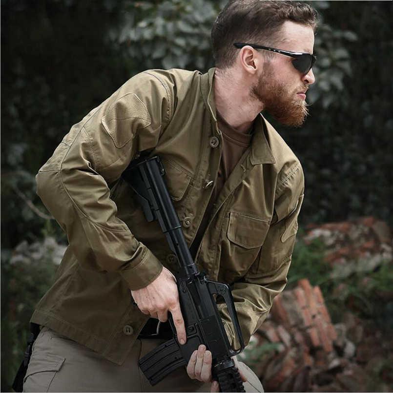 Мужская Военная тактическая рубашка с длинным рукавом, осенняя Высококачественная камуфляжная форма с несколькими карманами, рубашки Карго, дышащая одежда