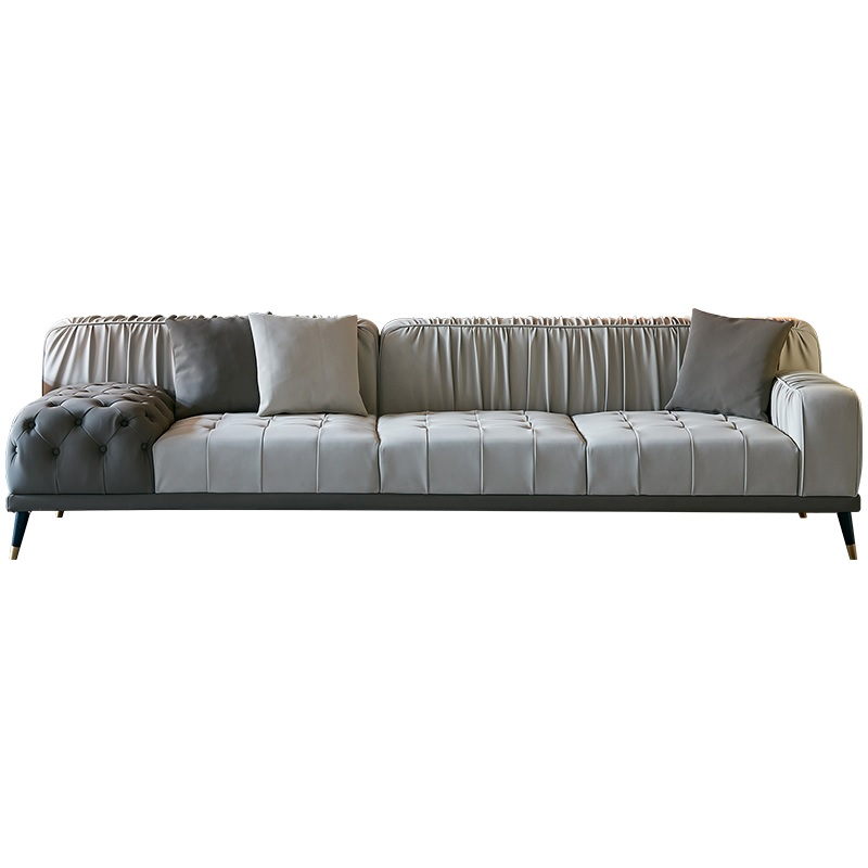 Sofa With Eco Leather Upholstery