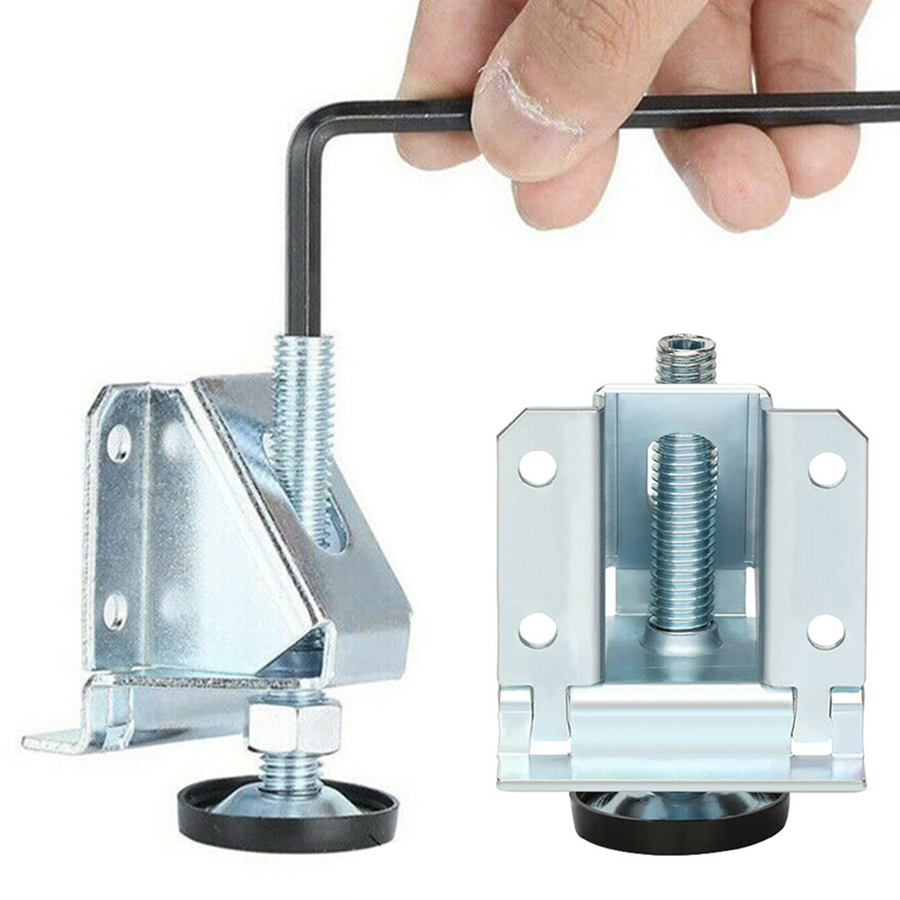 2pcs Cold Rolled Steel Adjustable Table Leg DIY Anti Slip Pad Cabinet Levelers Support Feet Home Furniture Hardware Accessories