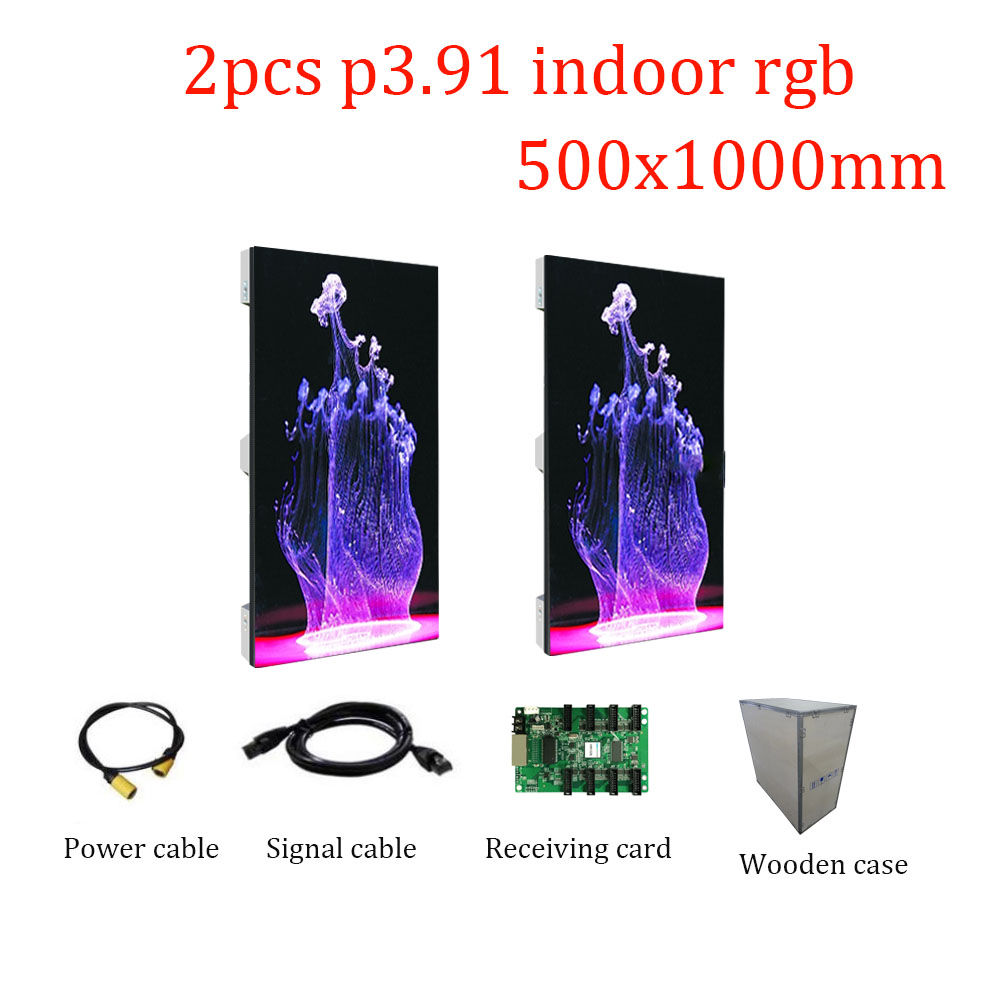 Stage Led Panel P3.91 500x1000mm Led Video Display Indoor Smd Full Color Background