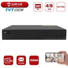 NVR H.265 Anpviz Onvif Recording TVT OEM 5MP No Stocks Remote-View No-Poe Real-Time Output-5mp