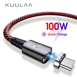 1M 2M 100W Magnetic PD Cable Charger USB C Type C To Type C Cable For Xiaomi Huawei Samsung 5A Quick Charging Cable Accessories