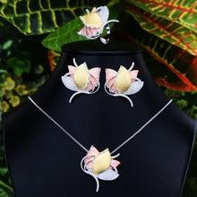 GODKI Luxury Geometry Dubai złote zestawy biżuterii ślub nigeryjski koraliki afrykańskie biżuteria ślubna zestaw Cubic cyrkon biżuteria etiopska