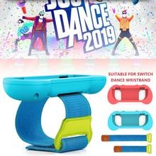 1 Pair Adjustable Elastic Dance Wrist Band Strap Wristband for Nintendo Nintend Switch Just Dance Joy