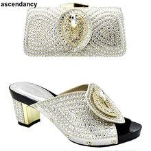 נעליים איטלקיות עם שקיות התאמה 2019 נעליים ותיק סט למסיבה ב נשים ניגרית נשים המפלגה משאבות עם ארנק נשים גבוהה עקבים