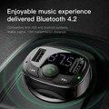 FM передатчик модулятор автомобильный комплект громкой связи Bluetooth аудио Mp3 плеер с 3.4a автомобильное Fm распространительницу Dual USB телефона З...