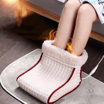 Электрическая теплая моющаяся грелка для ног с вилкой ЕС/США, 5 режимов тепловых настроек, теплая подушка, тепловая грелка для ног, массажная...