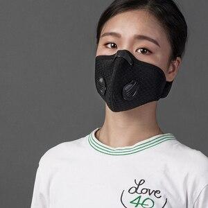 Image 4 - ROCKBROS רכיבה על אופניים פנים מסכת מסנן PM2.5 אנית ערפל לנשימה Dustproof אופניים הנשמה ספורט אבק הגנת אנטי אגל