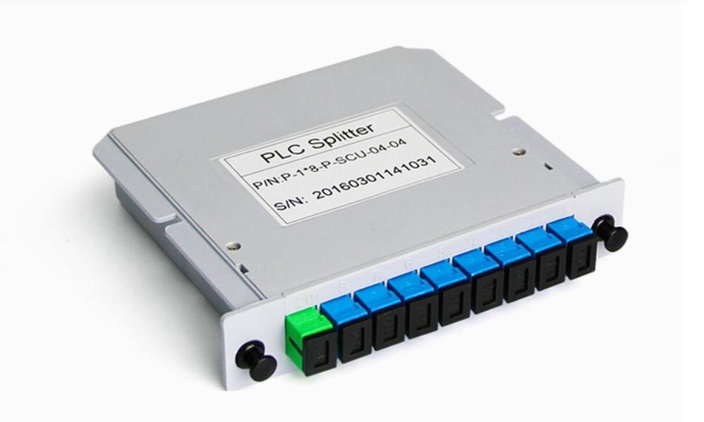 5pcs/lot SC UPC 1X8 Fiber Optic FTTH Cassette Box Optical Coupler SC UPC PLC 1X8 Fiber Splitter Box