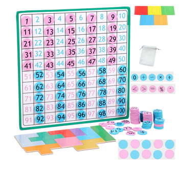 1 Set of Mathematical Board Magnetic Chess Pieces Parent-child Interactive 1