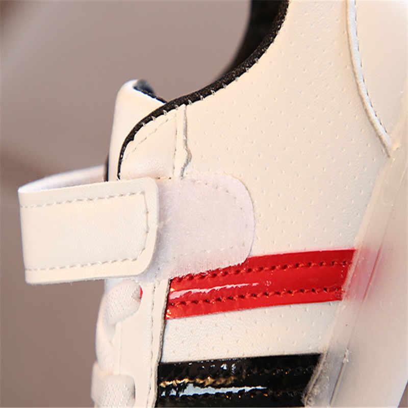 פעוט ילד נעלי ספורט ילדי תינוק בנות Led אור זוהר ריצה ספורט Sneaker נעלי Chaussure Lumineuse יוצקים Garcon