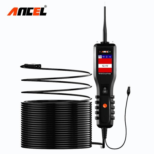 Ancel powerscan 12v自動車回路テスター電気システム診断ツールスーパー電源プローブ車ac dc電圧テスターPB100