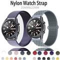 Ремешок нейлоновый для наручных часов, спортивный браслет для Samsung Galaxy watch 3 46 мм 42 мм Active2 40 мм 44 мм Active1 Gear S3 frontier, 20 мм 22 мм