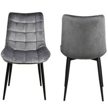 2Pcs Bar Stool ModernMetal Legs Velvet Cushion Seat and Back for Dining Living Room Chairs sillas comedor(China)