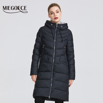 Nueva chaqueta de invierno MIEGOFCE 2020 para mujer, Parkas sencillas para mujer, abrigo cálido de Invierno para mujer, Parkas de plumón biológico de alta calidad