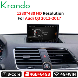 Krando Android 9.0 4G 64G 8-Core 8'' for Audi Q3 2011-2017 Car Radio Dvd Gps Navigation Multimedia Player