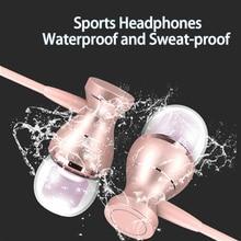 في الأذن سماعة مقاوم للماء المغناطيسي واضح ستيريو عالية الجودة الموسيقى والرياضة سماعة آيفون أندرويد MP3 سماعة
