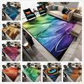 3D ковер с павлиньими перьями  Современные Геометрические ковры с животным принтом для гостиной  спальни  напольный коврик/ковер для дома
