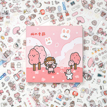 10sets/1lot Kawaii Stationery Stickers Soft and soft cherry blossom season series Stickers Scrapbooking DIY Craft Stickers