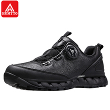 Humtto Outdoor Camping Picnic Hiking Shoes for mens Black/Blue Anti-skid Waterpr