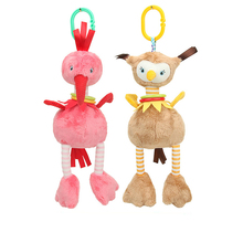 Baby Rattle Cute Cartoon Animal Comfort Doll Stroller Pendant Wind Chime Toy 0-12 Month Newborn Child