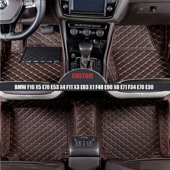 Auto waterproof car floor mats For BMW f10 x5 e70 e53 x4 f11 x3 e83 x1 f48 e90 x6 e71 f34 e70 e30 Custom Trunk mat car-styling image