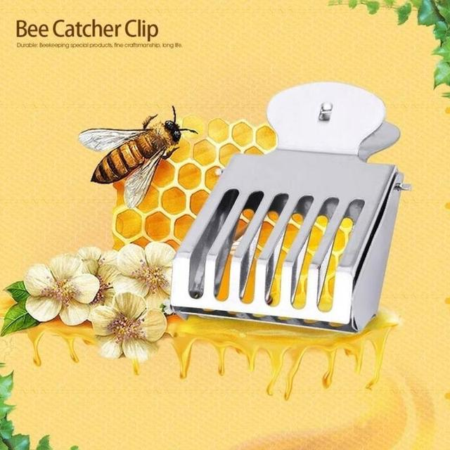 Bee Cage Prisoner Stainless Steel Queen Beekeeping Tools Equipment Accessor I3F0