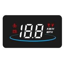 Carro hud cabeça up display obd2 ii excesso de velocidade sistema de aviso projetor brisa automático alarme tensão eletrônica l2